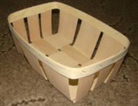 Эко упаковка корзинки, плетёные формы из дерева (шпона) форма с размерами 210*120*60мм, фото 1