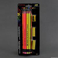Карандаши простой с резинкой 01545 (144) 12шт в упаковке
