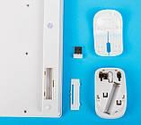Набор мини беспроводная клавиатура + беспроводная мышь UKC, K03, белый, фото 2