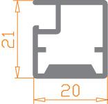 Фасадный алюминиевый профиль Р-32, фото 2