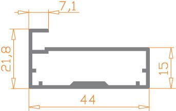Фасад алюминиевый профиль Р-33, фото 2