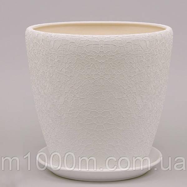 Горшок керамический Грация №2 (4,5л) в асс.