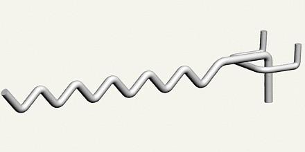 Крючки торговые. Крючок змейка с креплением на сетку, экономпанель, перфорацию и дсп