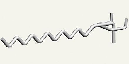 Крючки торговые. Крючок змейка с креплением на сетку, экономпанель, перфорацию и дсп, фото 2