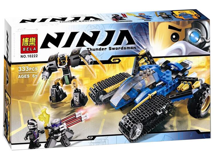 """Конструктор Bela Ninja (аналог Lego Ninjago) 10222/31038  """"Внедорожник Молния"""", 333 дет"""