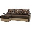 Угловой диван Garnitur.plus Микс коричневый 230 см