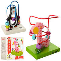 Деревянная игрушка Лабиринт Пингвин, MD 1177, 007142