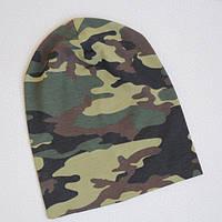 Детская шапка бини. Камуфляж. Размеры: 48-50, 50-52 см