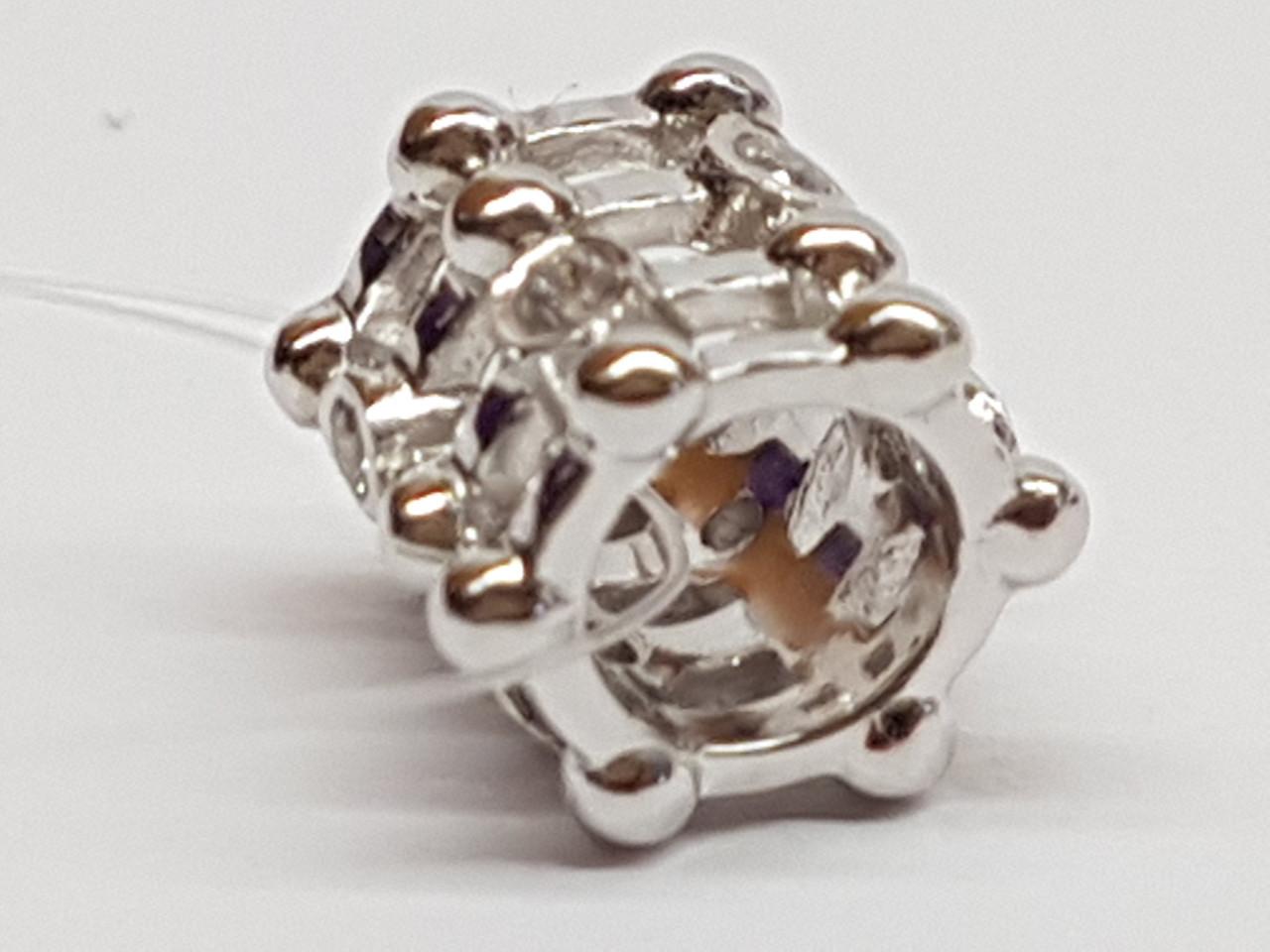 Серебряная подвеска-шарм с фианитами. Артикул 903-00760