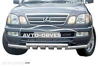 Защита нижнего бампера штатная для Lexus LX-470 1998 - 2007