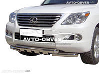 Защита нижнего бампера штатная Lexus LX 570 2007 - 2012