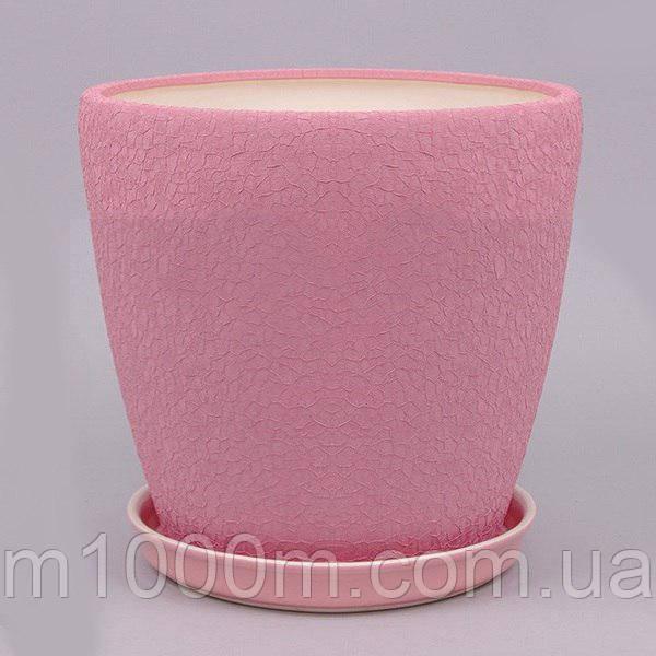 Горшок керамический Грация №3 (2,3л) ШЕЛК в асс.