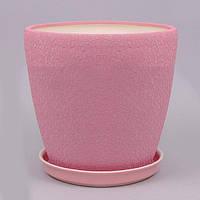 Горшок керамический Грация №3 (2,3л) ШЕЛК в асс., фото 1