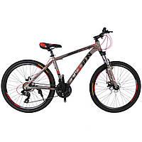 Горный велосипед TITAN Extreme 26″ NEW 2018 (Gray-Red-Black)
