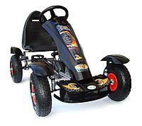 Детский гокарт на педалях до 50 кг 5-10lat НАСОСНЫЕ КОЛЕСА 4KiDS