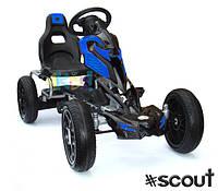 Детский гокарт на педалях до 60 кг 5-12 лет #scout BLUE JOY 4KiDS