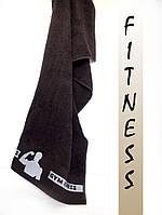 Махровое полотенце банное 70х140 фитнес для настоящих мужчин(шоколад)