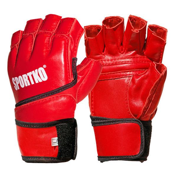 Перчатки с открытыми пальцами ПВХ Sportko арт.ПД-4 ( Размер XL) красные