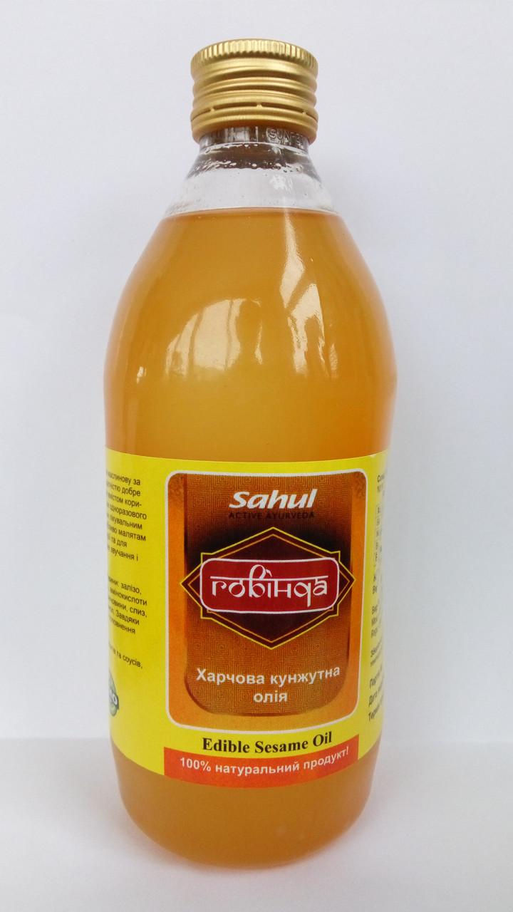Кунжутное, сезамовое, масло (пищевое) первого холодного ожима, Индия, 0,5 литра