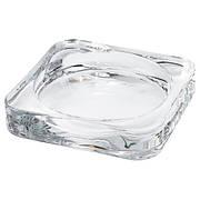 ГЛАСИГ Подсвечник для формовой свечи, прозрачное стекло, 10x10 см, 60259143, IKEA, ИКЕА, GLASIG
