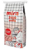 Mira 3100 unifix - Высокоадгезивный клей для плитки. C2T Серый 15 кг