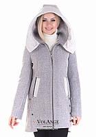 Шерстяное пальто полуприталеного силуэта Грейс Светло-серый (шерсть) V-g