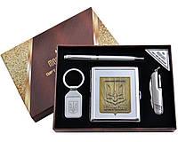 Подарочный набор Moongrass 4в1 -нож/портсигар/брелок/ручка AL-116В