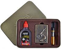 Подарочный набор SEXY 3в1 Зажигалка, бензин, мундштук №4713-3