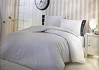 Белоснежное постельное белье для пансионатов и отелей Евро размер. Сатин-страйп. Турция.