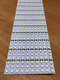 Светодиодная лента Premium SMD 5054/72 12V 6500-7000K IP20 1м на алюминиевой подложке Код.59219