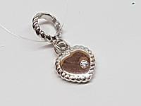 Серебряная подвеска-шарм с фианитом. Артикул 903-00835