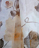 Гардинная ткань батист (желто-коричневые цветы)