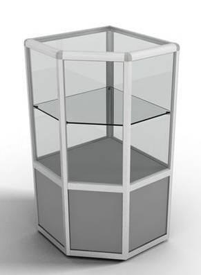 Стык тройной для торгового профиля 3084, гальваника, фото 2