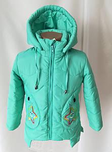 Детские осенние куртки для девочки интернет магазин 22-28 бирюза