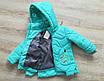 Детские осенние куртки для девочки интернет магазин 22-28 бирюза, фото 4