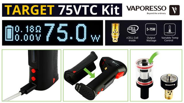Электронная сигарета Vaporesso Target 75W VTС Starter Kit