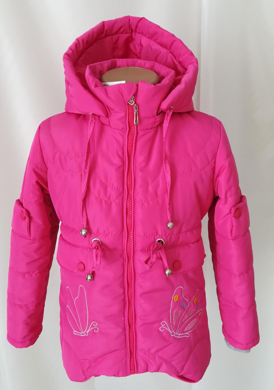 Детские осенние куртки для девочки интернет магазин  20-28 малиновый