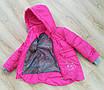 Детские осенние куртки для девочки интернет магазин  20-28 малиновый, фото 6