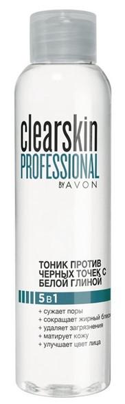 Тоник против черных точек с белой глиной 5 в 1, Avon Clearskin Professional, Эйвон Клеарскин, 09257