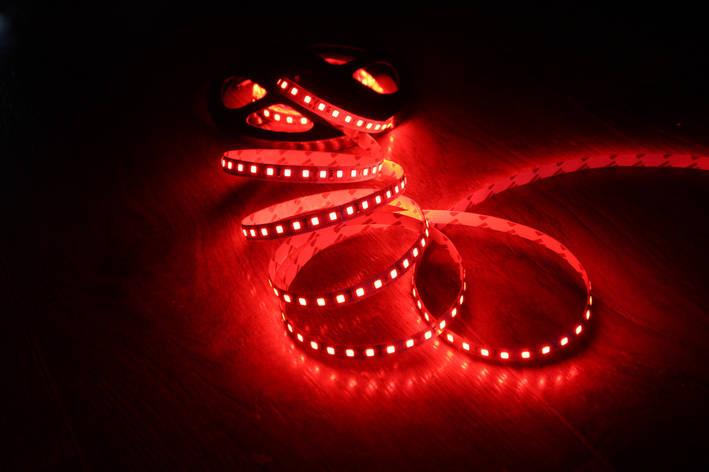 Светодиодная лента 3528-120 IP65 красный, фото 2