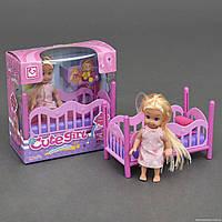 УЦЕНКА Кукла с кроваткой К 899-27 (96/2) в коробке, ПОВРЕЖДЁННАЯ УПАКОВКА