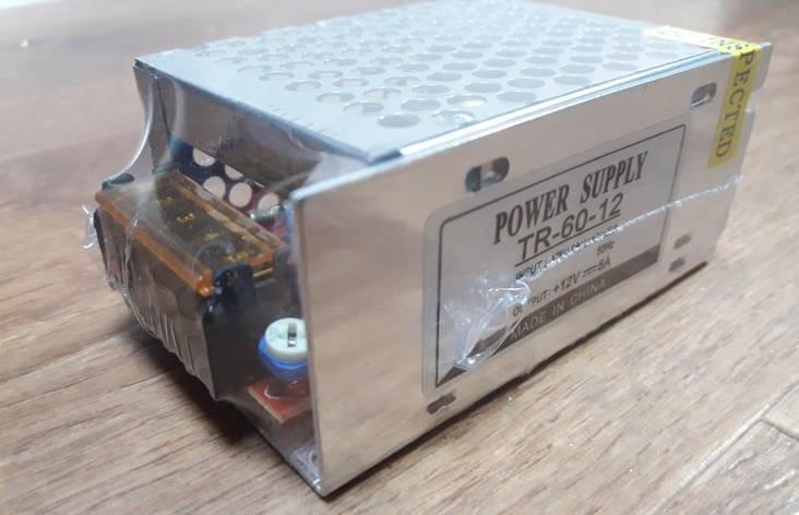 Блок питания 12V-60W-5А, фото 2