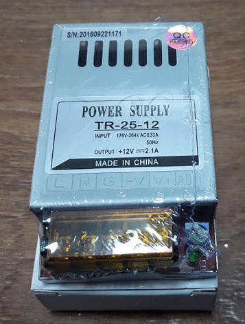 Блок питания 12V-25W-2,1А, фото 2