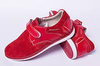 Подростковые спортивные туфли на липучке, кожаная детская обувь от производителя модель ДЖ3745
