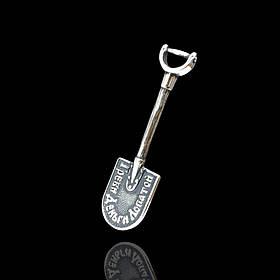 """Серебряная лопата-загребушка """"Греби деньги лопатой"""" миниатюрная"""
