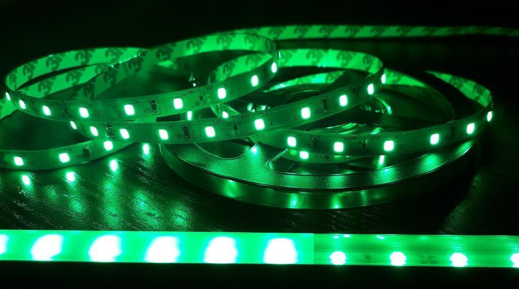 Светодиодная лента 3528-60 ip20 зеленая