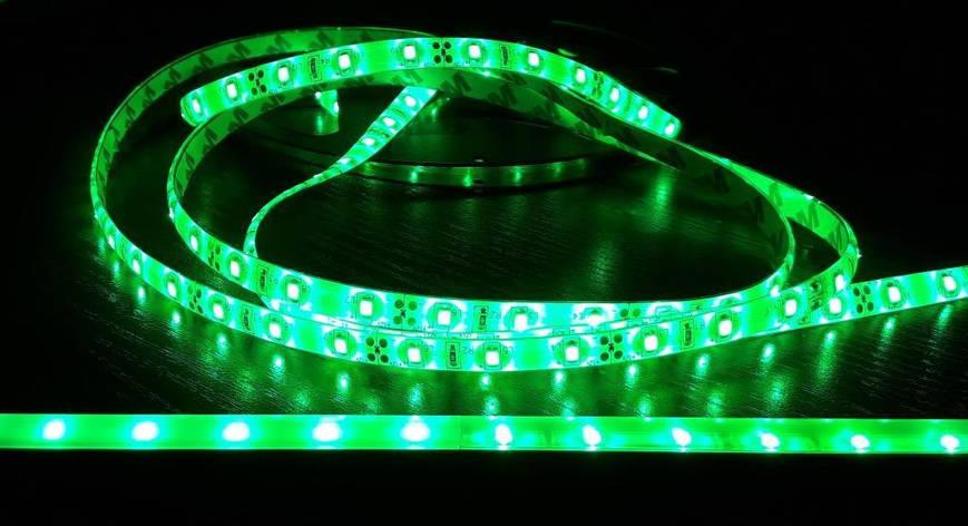 Светодиодная лента 3528-60 IP65 зеленая, фото 2