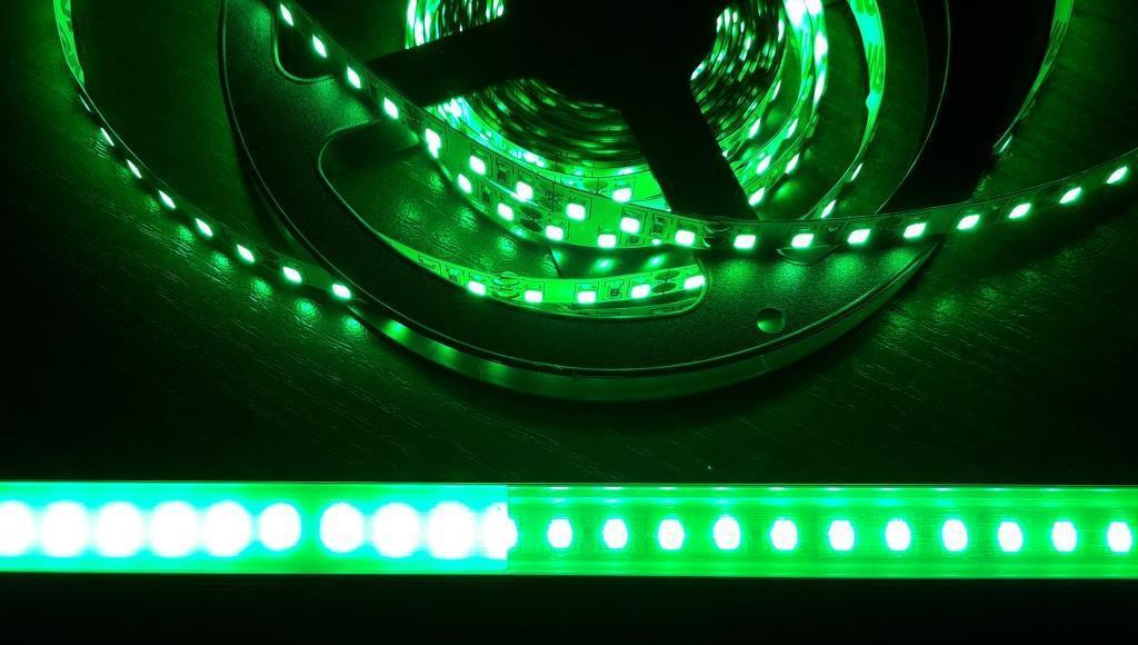Светодиодная лента 3528-120 IP20 зеленый