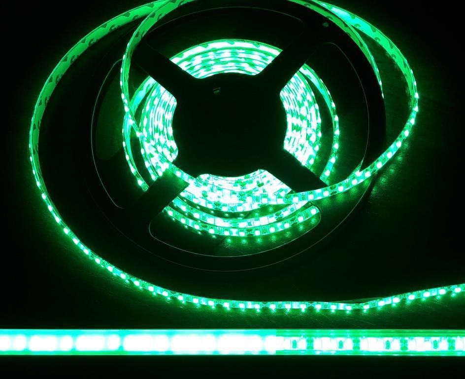 Светодиодная лента 3528-120 IP65 зеленый