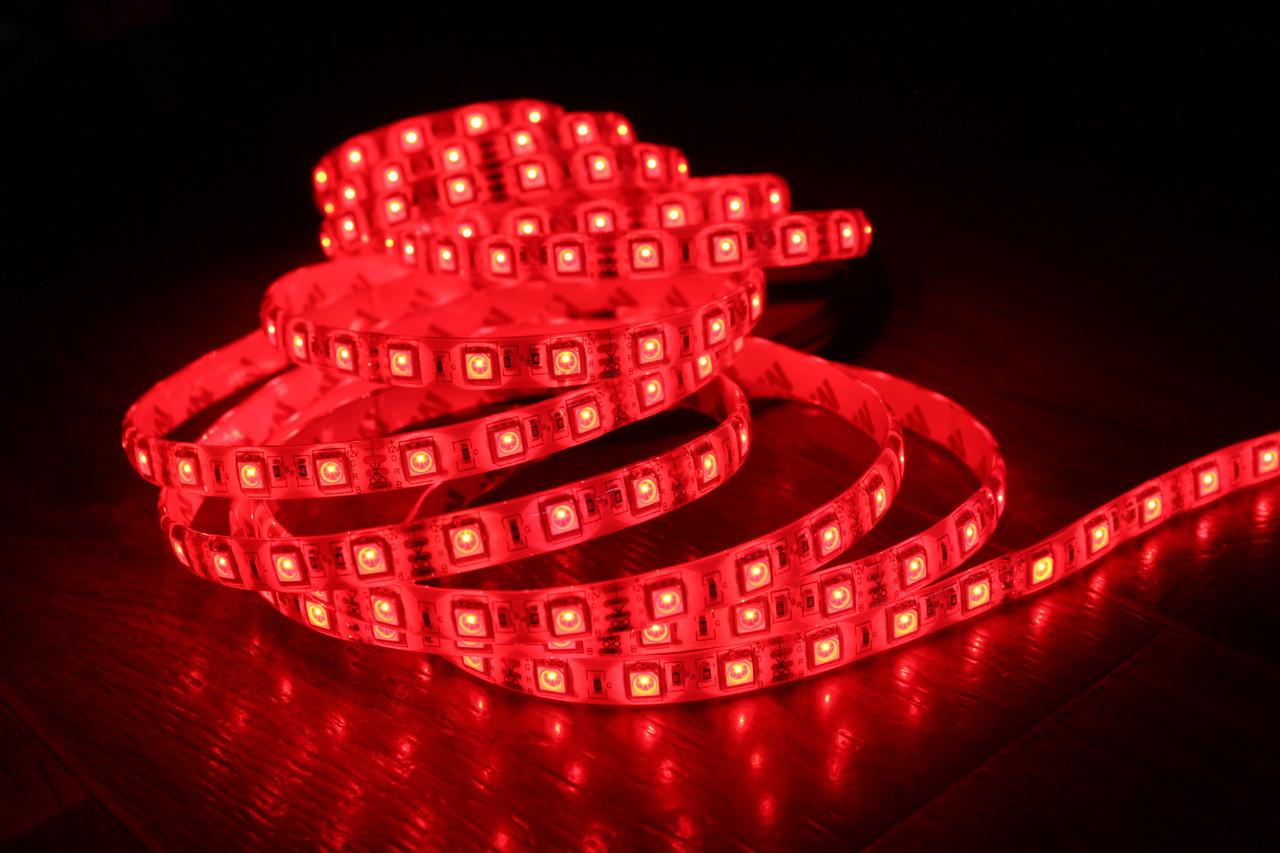 Светодиодная лента 5050-60 IP65 красный